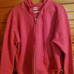 large pink zip up hoodie/jacket